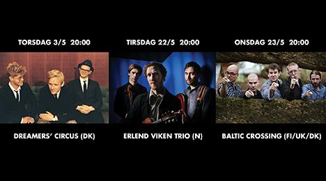 3 eminente FOLK koncerter i maj