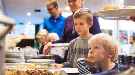 Fællesspisning og Onsdagstimen